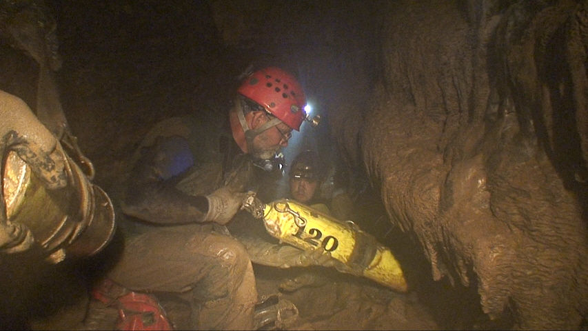 Ralph Sawyer, one of the seventeen dry cavers who joined the OCDA in the New Mertz to Crevice Cave connection attempt.